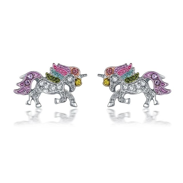 Pendientes Unicornio brillantes cristal d colores