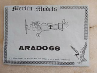 Maqueta avion, Arado Ar 66 de Merlin Models a 1/72