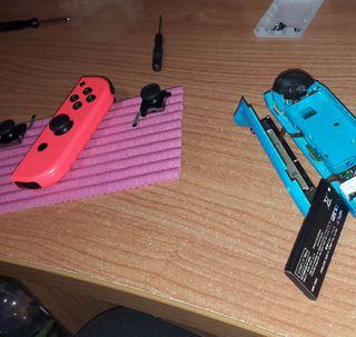 Reparo joy-cons nintendo switch y adapto docks