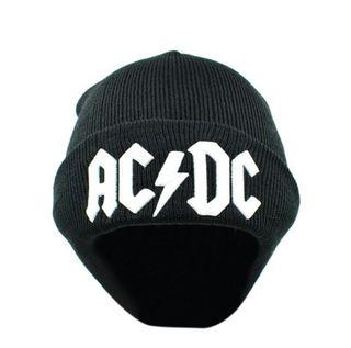 Gorro Negro y Blanco AC DC