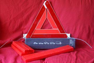 2 triángulos emergencia homologados coche.
