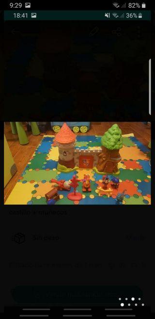 castillos + muñecos
