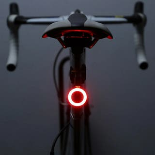 Luz bicicleta roja circular