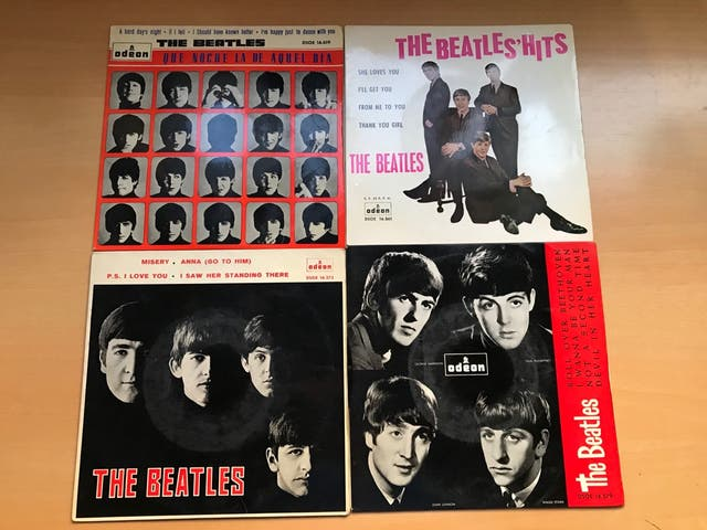 "Pack Vinilos The Beatles 7"""