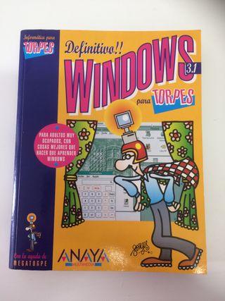 Libro - Windows para torpes (años 90)
