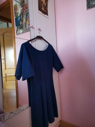 vestido fiesta azul electrico