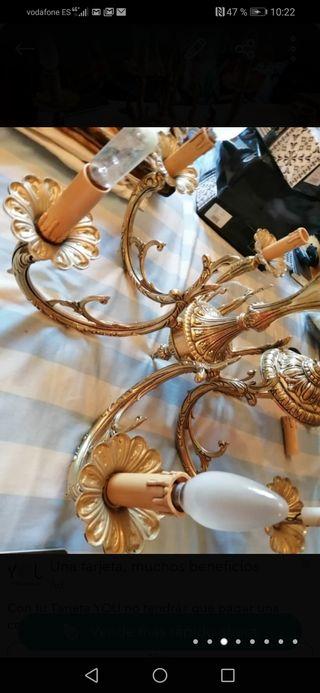 lámpara de lujo bronces