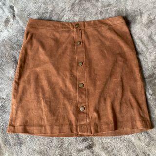 falda elegante marrón