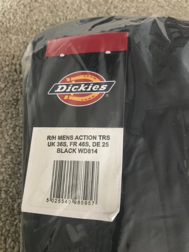Dickies action pants size w36 small
