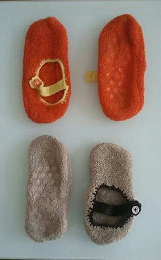 2 pares calcetines antideslizantes