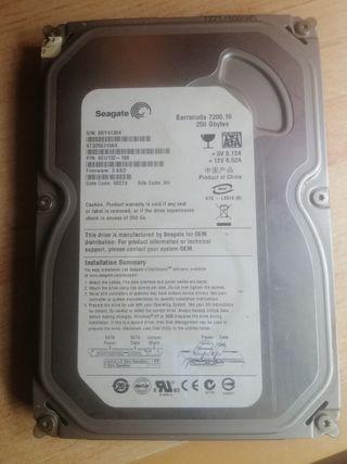 Disco duro de 3'5 y 250Gb
