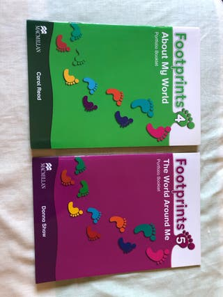 "Libros de ingles. ""Footprints 4 y 5"""