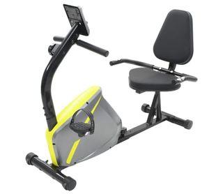 Bicicleta estática reclinada magnética con pulsóme