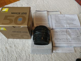 Objetivo Nikon Nikkor 50mm 1.8D