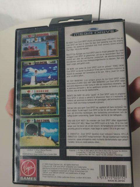 juego cool spot de consola mega Drive