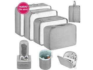 Set organizador de maletas 8 pzs Nylon impermeable