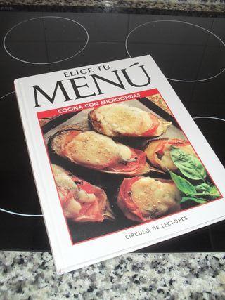 libro de cocina, para cocinar con microondas
