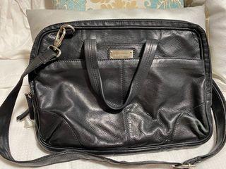 Bolso maletín negro de piel Martinelli