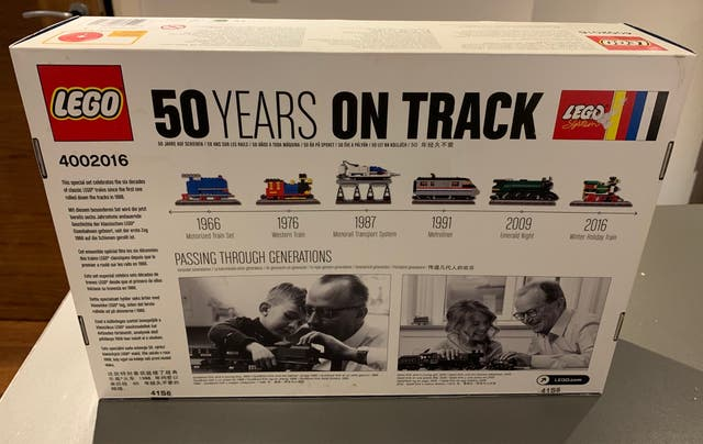 Lego 50 years on track train set