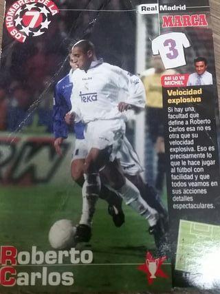 Postal Roberto Carlos Real Madrid