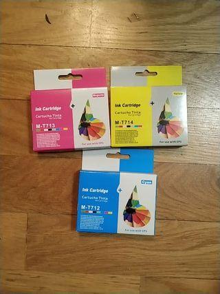Cartuchos tinta T713, T712, T714