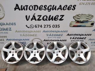 Juego de llantas aluminio Peugeot en 15 pulgadas