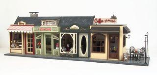 Casa de muñecas escala 1/12 CALLE DE LAS TIENDAS