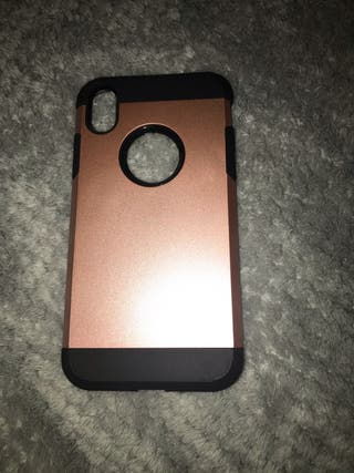 iPhone XR protective case in rose gold