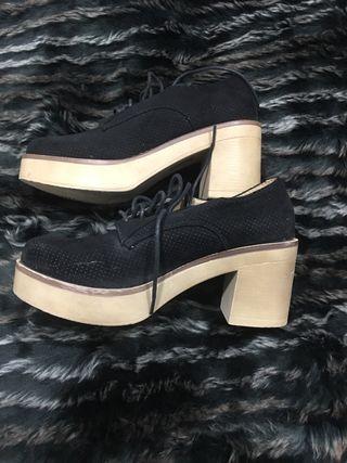 Zapatos Oxford con tacon