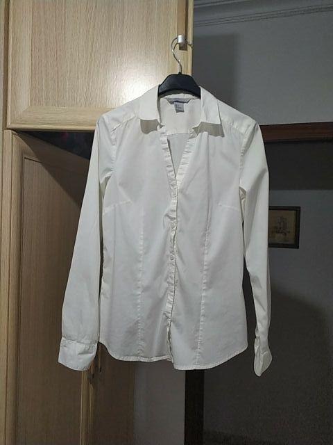 Blusa blanca de traje para mujer