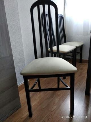 6 sillas de madera