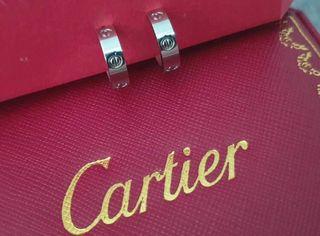 Anillo CARTIER Love platino 3 diamantes