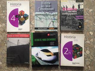 lote libros ESO bachillerato geografia e historia