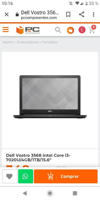 pc portátil Dell vostro