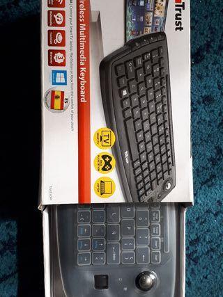 trust,teclado multimedia smart tv,pc,play