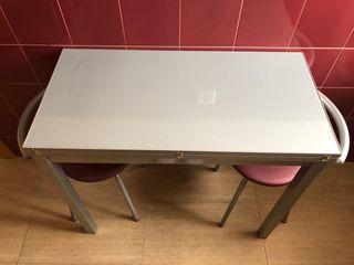 Mesa cocina plegable + taburetes