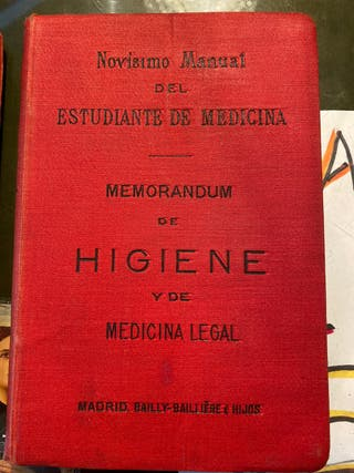 Libro de medicina antigua 1892