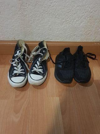 bambas convers y bambas Adidas talla 35 y 32