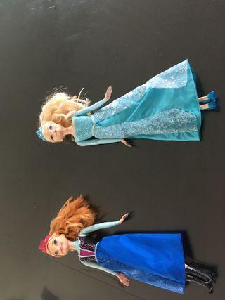 Elsa y Ana muñecas