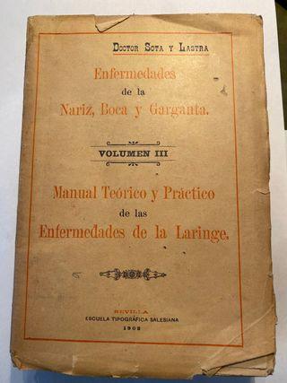 Libro antiguo de medicina 1902