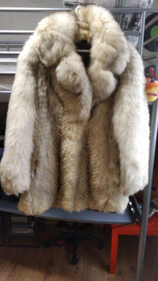 Abrigo de piel zorro del Canada
