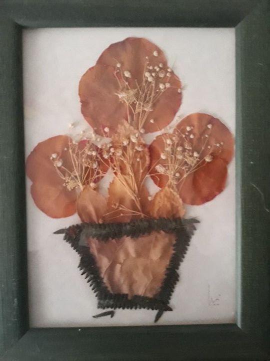 Cuadro flores secas