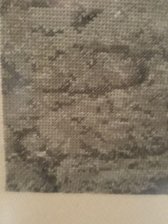 Cuadro punto de cruz antiguo