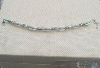Tobillera/pulsera cordón azul turquesa