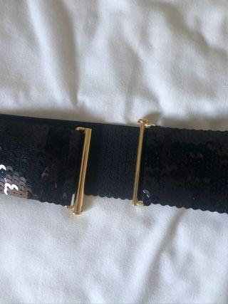 Cinturón elástico lentejuelas