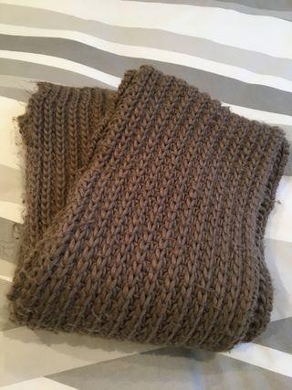 Bufanda lana marron