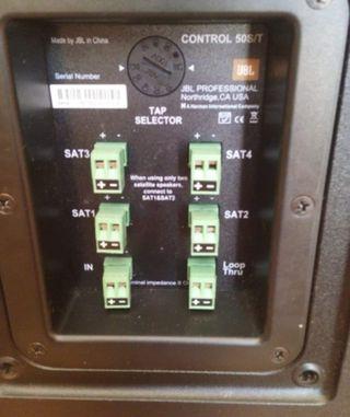 Subwoofer JBL control 50s/t