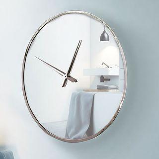 Reloj de pared redondo marco acero 80 cm NUEVO