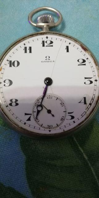 reloj de bolsillo muy antiguo Omega en plata