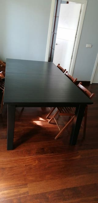 Mesa extensible negra Ikea